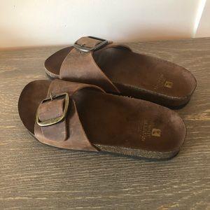 White Mountain Shoes - White Mountain Hemingway Brown Leather Sandals